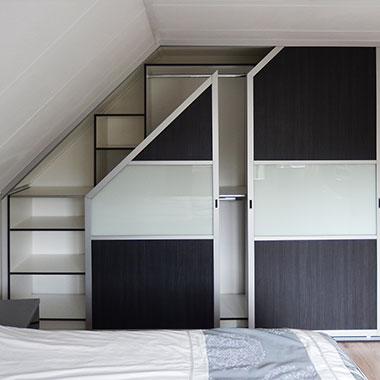 Schuine kast slaapkamer